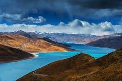 A paisagem tibetana Fotos de Stock Royalty Free