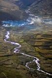 Paisagem tibetana fotografia de stock