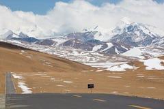 Paisagem tibetana na estrada de Friendshiip em Tibet Fotos de Stock