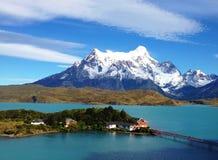 Paisagem - Torres del Paine, Patagonia, o Chile Imagens de Stock