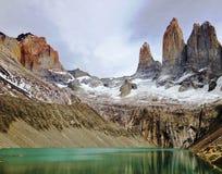 Paisagem - Torres del Paine, Patagonia, o Chile Imagem de Stock Royalty Free
