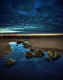 Paisagem tranquilo da praia Fotos de Stock Royalty Free