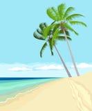 Paisagem tropical ilustração stock