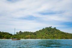 Paisagem tropical de Koh Kradan Fotos de Stock Royalty Free