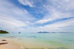 Paisagem tropical de Koh Kradan Foto de Stock
