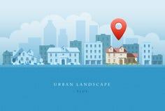 Paisagem urbana Imagens de Stock