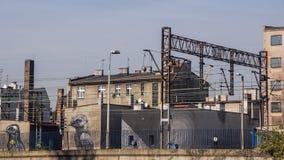 Paisagem urbana com pintura mural Imagem de Stock Royalty Free