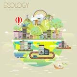 Paisagem urbana da ecologia Fotografia de Stock Royalty Free