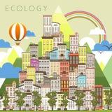 Paisagem urbana da ecologia Imagens de Stock