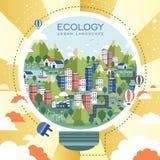 Paisagem urbana da ecologia Imagens de Stock Royalty Free