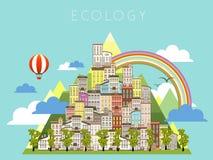 Paisagem urbana da ecologia Imagem de Stock Royalty Free