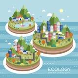 Paisagem urbana da ecologia Foto de Stock Royalty Free