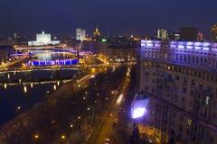 A paisagem urbana de grandes cidades e de seus distritos Imagens de Stock Royalty Free