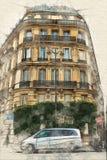 Paisagem urbana de Paris ilustração royalty free