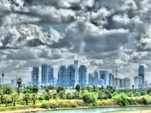 Paisagem urbana de Tel Aviv Fotos de Stock Royalty Free