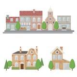 Paisagem urbana do estilo liso Fotografia de Stock Royalty Free