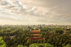 Paisagem urbana do Pequim imagens de stock royalty free