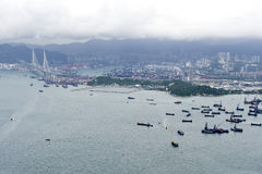 Paisagem urbana em Hong Kong Imagens de Stock Royalty Free