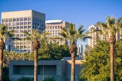 Paisagem urbana em San Jose do centro, Califórnia imagens de stock