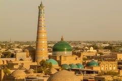 Paisagem urbana oriental O cidade-museu antigo de Khiva Foto de Stock Royalty Free