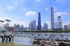 Paisagem urbana pelo Zhujiang River Fotografia de Stock