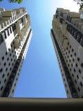 Paisagem urbana - torres e raspadores do céu em Tel Aviv foto de stock