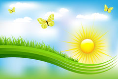 Paisagem verde bonita Fotos de Stock