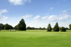 Paisagem verde da grama do golfe em Texas Foto de Stock Royalty Free