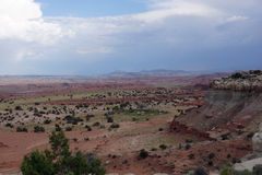 Paisagem vermelha do vale da montanha de San Rafael Swell em Utá Imagens de Stock
