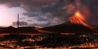 Paisagem vulcânica fotografia de stock royalty free