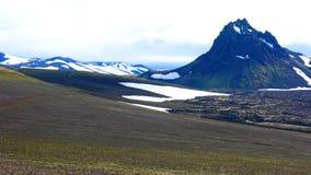 Paisagem vulcânica bonita em Landmannalaugar filme