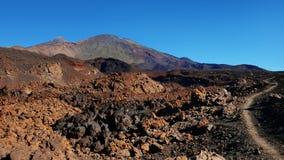 Paisagem vulcânica com lava Aa na caminhada uma de Montana Samara do mais incomum estrangeiro-como o ambiente encontrado no parqu fotos de stock royalty free