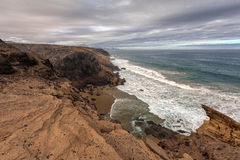 Paisagem vulcânica de Fuerteventura, Ilhas Canárias, Espanha Fotografia de Stock
