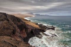 Paisagem vulcânica de Fuerteventura, Ilhas Canárias, Espanha Imagem de Stock Royalty Free