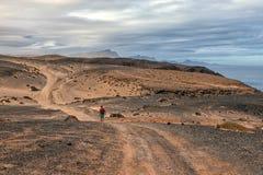 Paisagem vulcânica de Fuerteventura, Ilhas Canárias, Espanha Fotografia de Stock Royalty Free