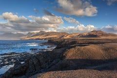 Paisagem vulcânica de Fuerteventura, Ilhas Canárias, Espanha Foto de Stock