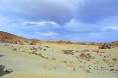 Paisagem vulcânica em Teide, Tenerife, Ilhas Canárias, Spain Imagem de Stock