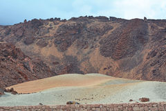 Paisagem vulcânica em Teide, Tenerife, Ilhas Canárias, Spain Foto de Stock