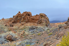 Paisagem vulcânica em Teide, Tenerife, Ilhas Canárias, Spain Foto de Stock Royalty Free