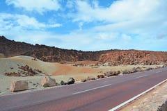 Paisagem vulcânica em Teide, Tenerife, Ilhas Canárias, Spain Fotos de Stock Royalty Free