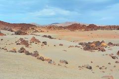 Paisagem vulcânica em Teide, Tenerife, Ilhas Canárias, Spain Imagens de Stock Royalty Free