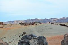 Paisagem vulcânica em Teide, Tenerife, Ilhas Canárias, Spain Fotografia de Stock