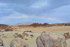 Paisagem vulcânica em Teide, Tenerife, Ilhas Canárias, Spain Imagem de Stock Royalty Free