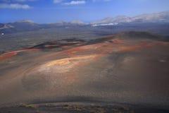 Paisagem vulcânica, Lanzarote, Espanha foto de stock