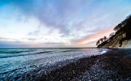 Paisagem Wideangle do mar fotografia de stock