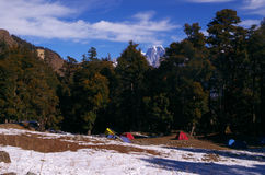 Paisagem-XVII da passagem de Kuari do inverno Fotos de Stock Royalty Free