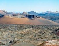 Parque nacional Timanfaya, Lanzarote Imagens de Stock