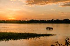 Paisagens africanas - reserva Tanzânia do jogo de Selous fotografia de stock royalty free