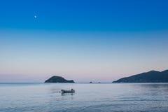 Paisagens bonitas do mar na ilha de Zakynthos Imagens de Stock