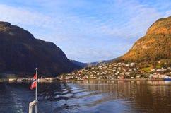 Paisagens cênicos dos fiordes noruegueses Imagem de Stock Royalty Free